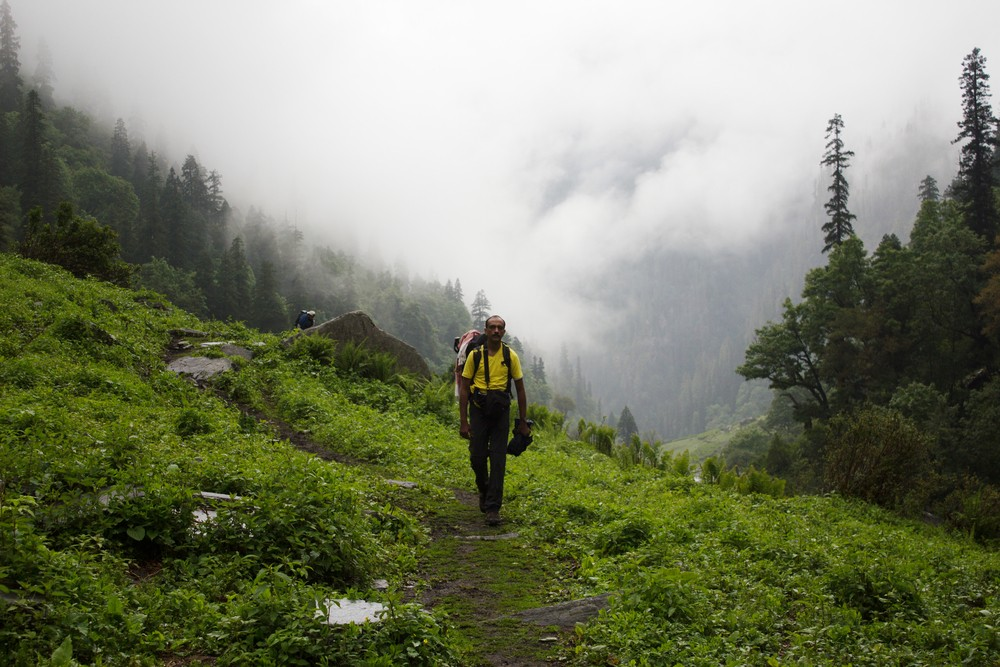 On the lower reaches of the Rupin pass trail